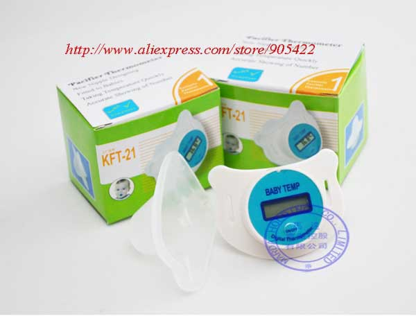 50pcs/lot Digital LCD baby nipple thermometer nipple-like digital thermometer for infants HO401(Hong Kong)