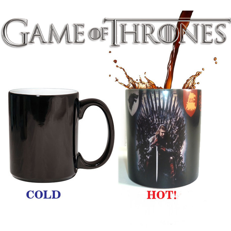 Game of Thrones Right Coffee Cup Mug Mark Color Changing Cups Sensitive Ceramic Tea La Copa Friends Gift(China (Mainland))