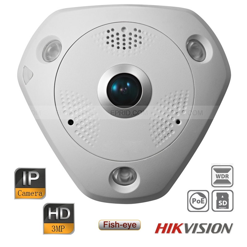 Hikvision HD 3MP IP WDR Heat Map CCTV Network IR Panorama Fisheye Camera PoE<br><br>Aliexpress