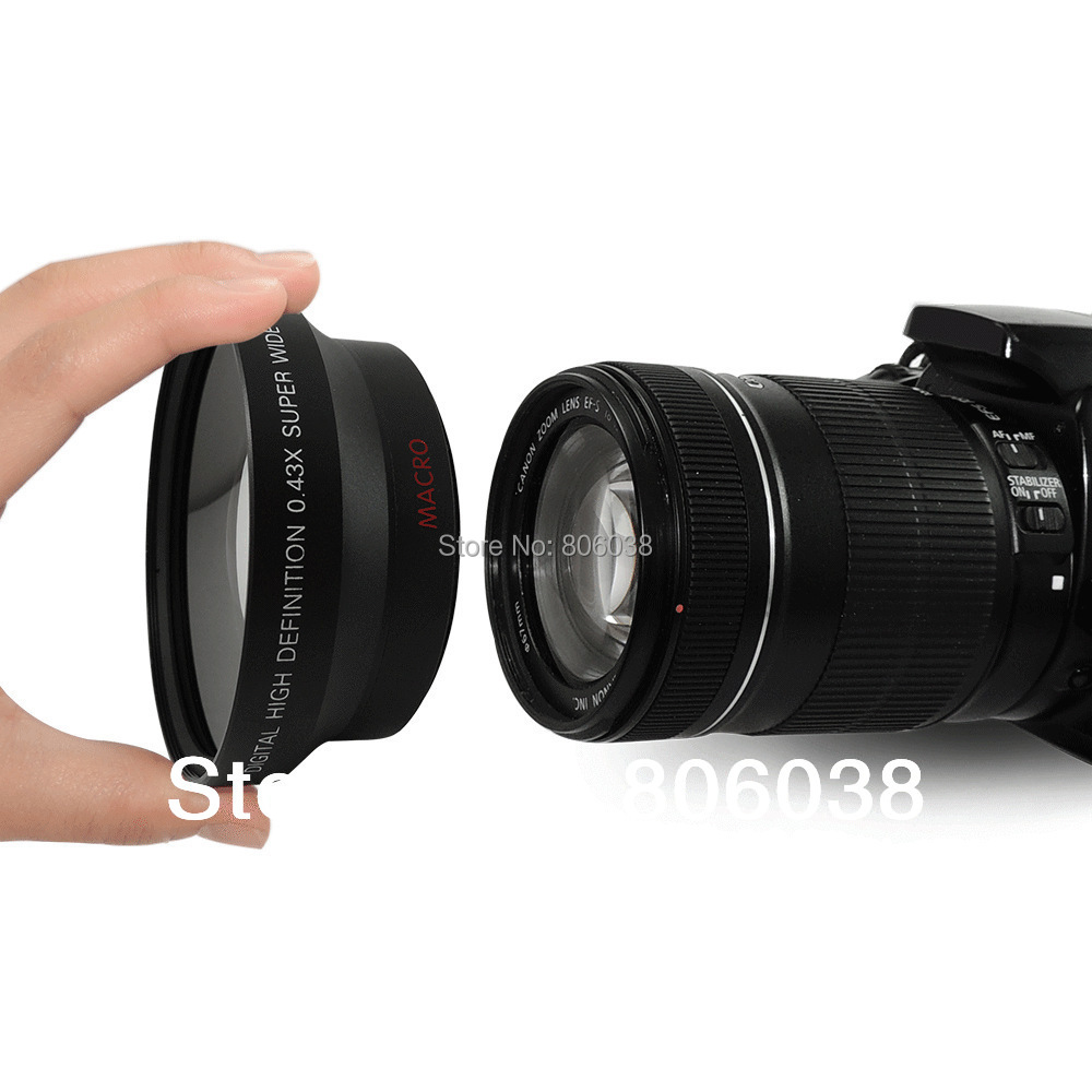 67mm Digital High Definition 0.43X Wide Angle Lens with Macro+Front &amp; Rear Cap <br><br>Aliexpress