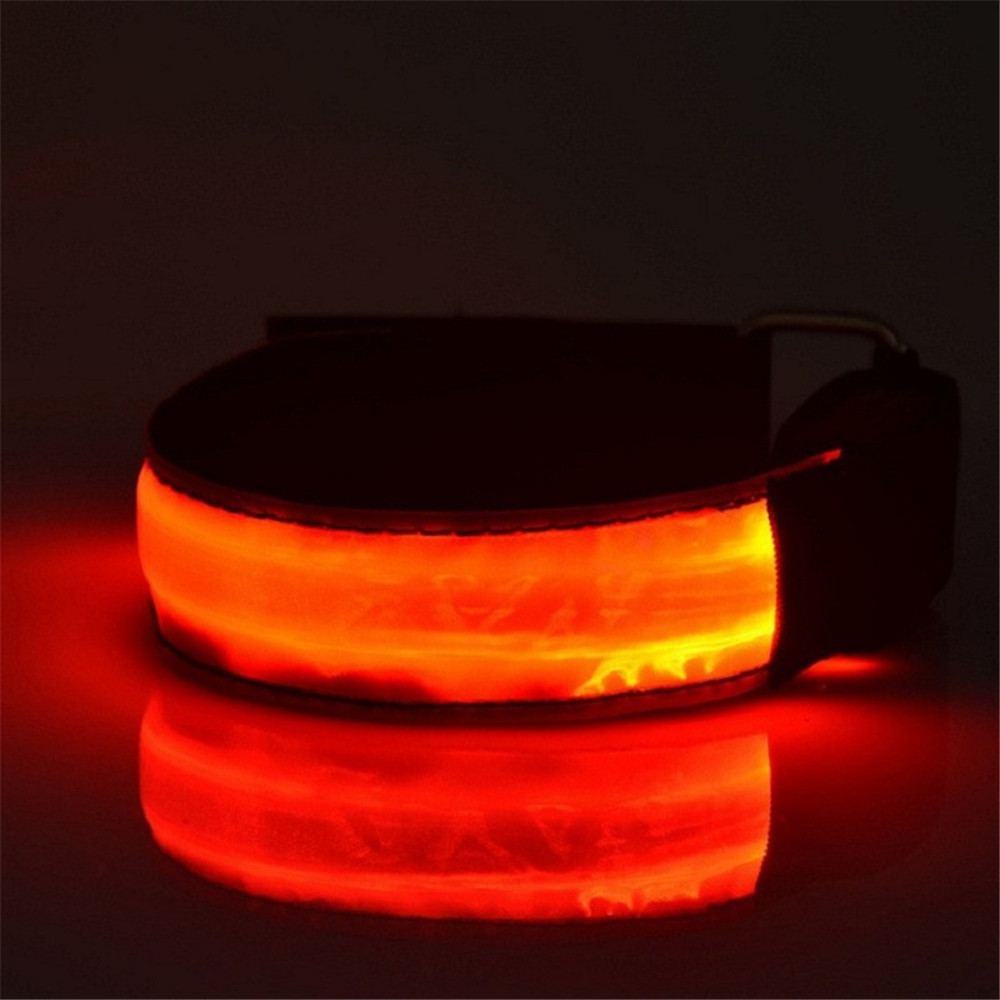 Bicycle Lights Bicycle Safety Lights Sports Bike LED Flashing Safety Reflective Belt Strap Snap Wrap Arm Band for Running Cycle(China (Mainland))