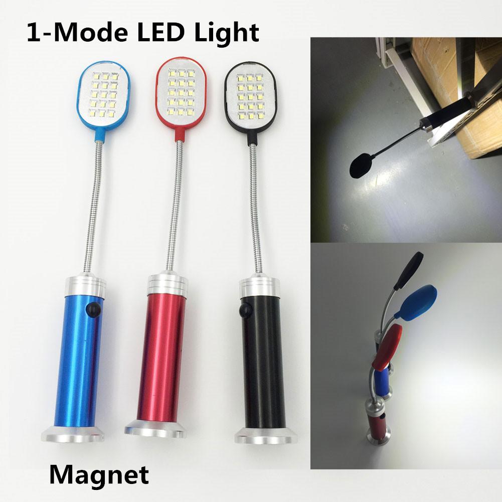 2016 Led Flashlight 250Lumen Flexible 15LEDs Super Bright 1 Mode Aluminum Desk Light Lamp With Magnet Torch Perfect Companion(China (Mainland))
