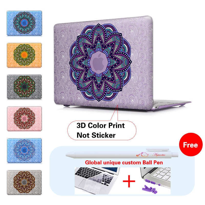 Stack Up Mandala Frosted Protective Case For font b Apple b font Macbook Air 13 Pro