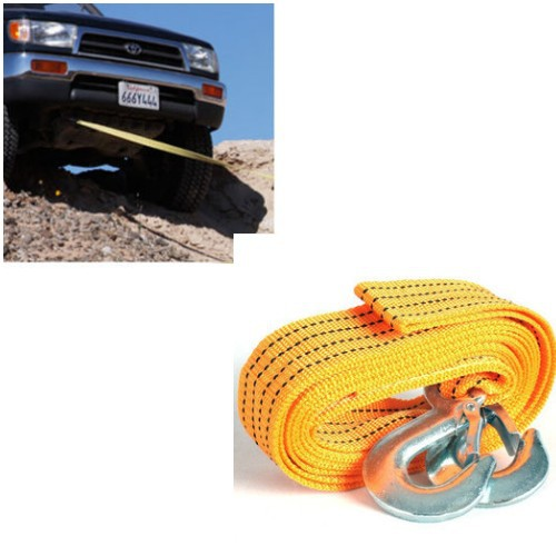13 Feet 3T Tow Cable Towing Pull Rope Snatch Strap Heavy Duty Road Recovery Car Truck tow hook trailer hitch corda rope tow(China (Mainland))