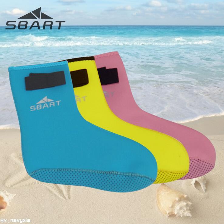 SBART Kids Diving Socks 3MM Neoprene Neoprene Diving Socks Surfing Swimming Socks Water Sports Snorkeling Boots(China (Mainland))