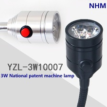 NHM 3W LED work light/ CNC  machine tool lamp /with switch on lamp head /50CM Flexible gooseneck(China (Mainland))