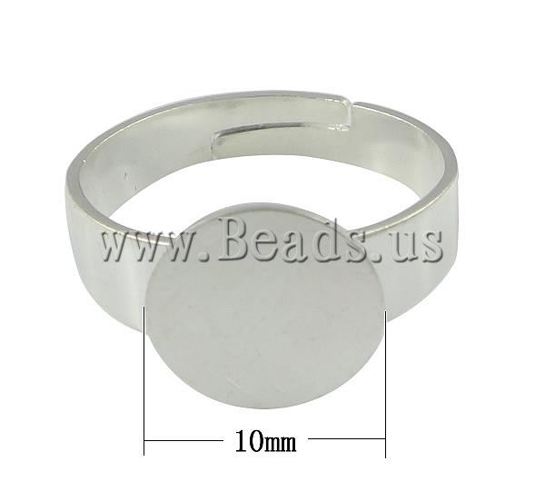 Free shipping!!!Brass Pad Ring Base,Lovely Jewelry, silver color plated, nickel, lead & cadmium free, 10mm, Hole:Approx 17mm(China (Mainland))