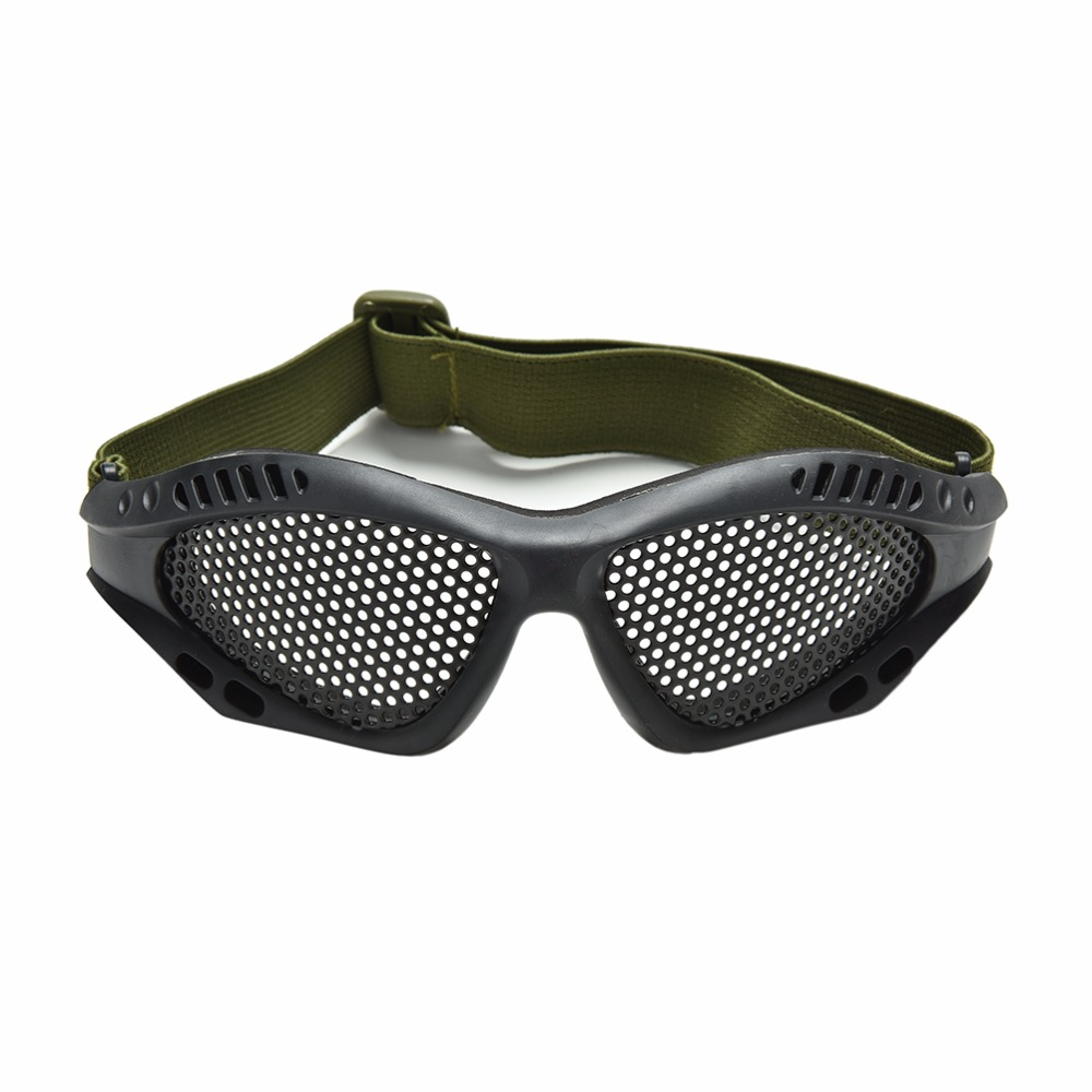 1PC Black Paintball Goggles Tactical CS Airsoft Anti Fog Metal Mesh Goggle Eye Protective Safety Glasses Outdoor Sports Eyewear