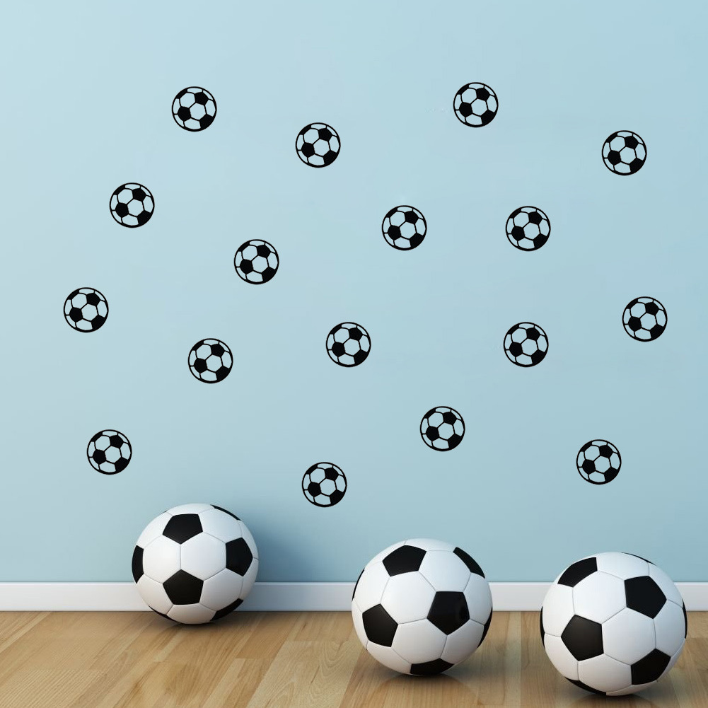 Carved football children room background wall stickers foreign trade wholesale waterproof bedroom can be removed(China (Mainland))