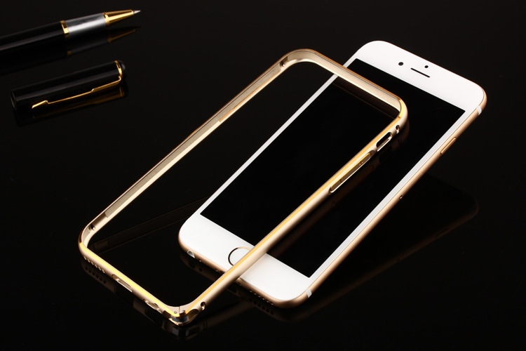 Ultra Thin slim buckle circular Aluminum alloy Metal Bumper Frame gold edge for iPhone 5/5s 6g 6plus(China (Mainland))