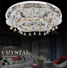 AC100-240V D80cm or D65cm 45W or 54W  Remote Control Modern LED Ceiling Light LED Crystal Lamp Lustre Fixture home lighting(China (Mainland))