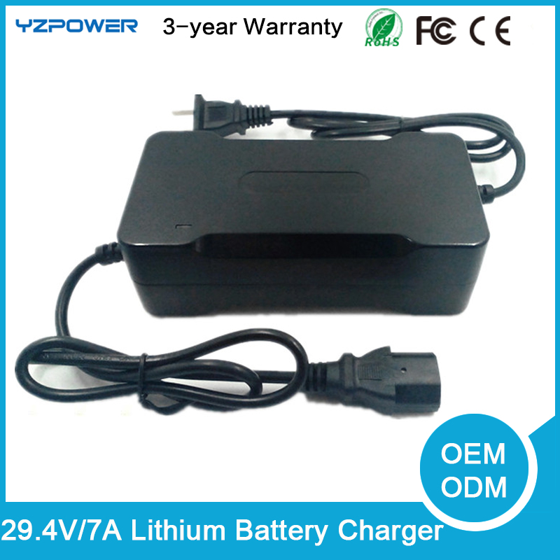 29.4V 2A/3A/4A/5A/7A Lithium type electric and use nimh battery pack 7 X 3.6 v 7 X 3.7V Li-on Li-po battery charger(China (Mainland))
