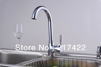 Stainless Steel Chrome Finish Kitchen 360 Degree Swivel Hot and Cold Water Faucet