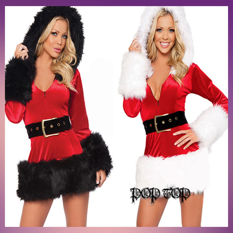 Ladies Sexy Santa Christmas Fanxy Dress Christmas play costumes Sexy devil costume queen Female Queen Barbie clothes Steel(China (Mainland))