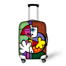 Hot graffiti travel suitcase luggage cover for 18 20 22 24 26 28 30 inch thick elastic luggage coves waterproof protective cover(China (Mainland))