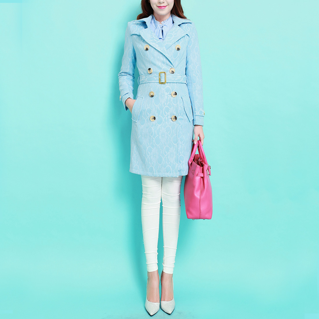 Breeze 2015 autumn and winter large lapel 2015 spring british style high fashion embroidery Long Lace Trench Coat with belt 3XLОдежда и ак�е��уары<br><br><br>Aliexpress