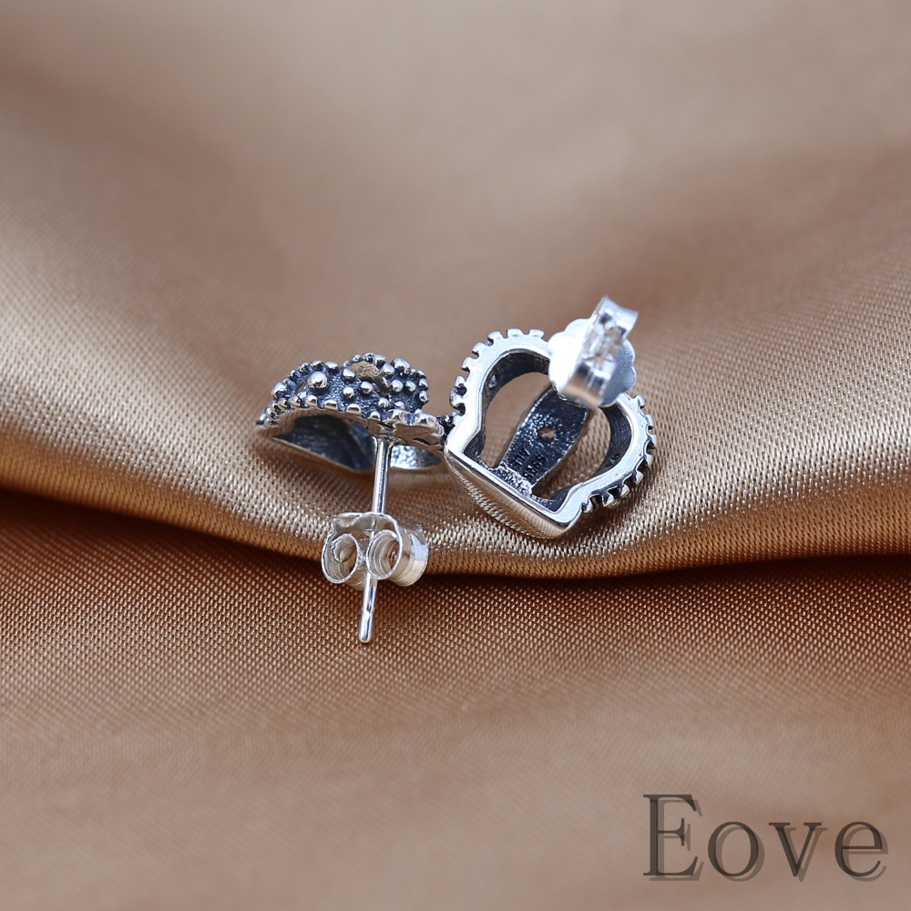 earrings stud womens diamond day to things royal s women products earringsstud zen crown valentines silver sterling