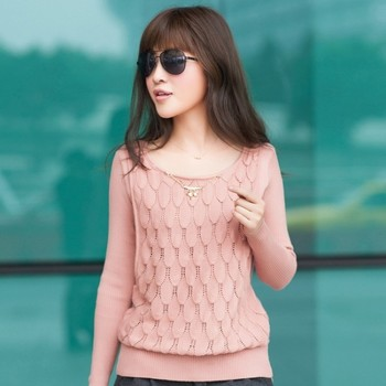 2013 spring cutout loose pullover sweater 2 piece set sweater outerwear