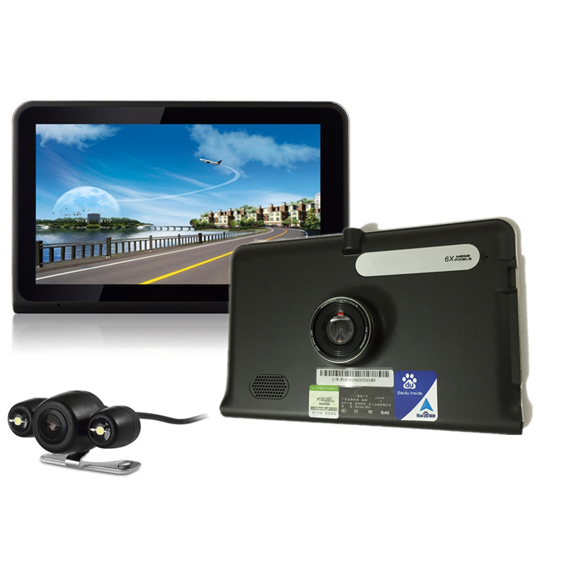 7 inch GPS Navigation Android WiFi GPS DVR Camcorder 1080P AVIN Rearview Camera Capacitive Touch Screen