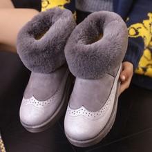 2017 de Invierno Botas de Nieve Zapatos Femeninos de Algodón para Las Mujeres Corto botas Nueva Mujer Zapatos de los Planos Calientes Para las niñas adolescentes y mujeres(China (Mainland))