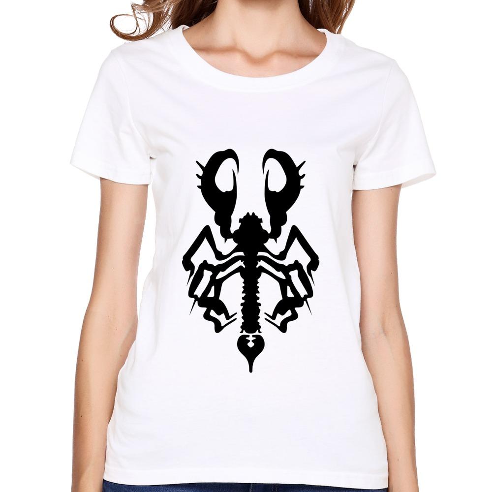 2015 hot scorpio art tee shirt summer short sleeve womenartist tee shirt for women in t shirts - Tee shirt sexy ...