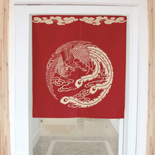 Chinese style bird decorative door curtains fabric cloth home screens partition bathroom kitchen curtains(China (Mainland))