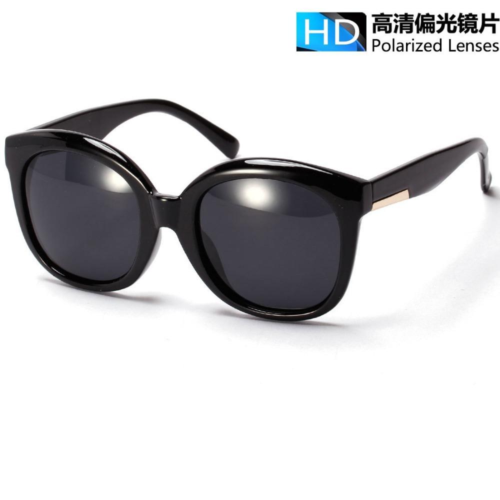 Large Frame Retro Glasses : Fashion Round retro sunglasses large frame HD polarized ...