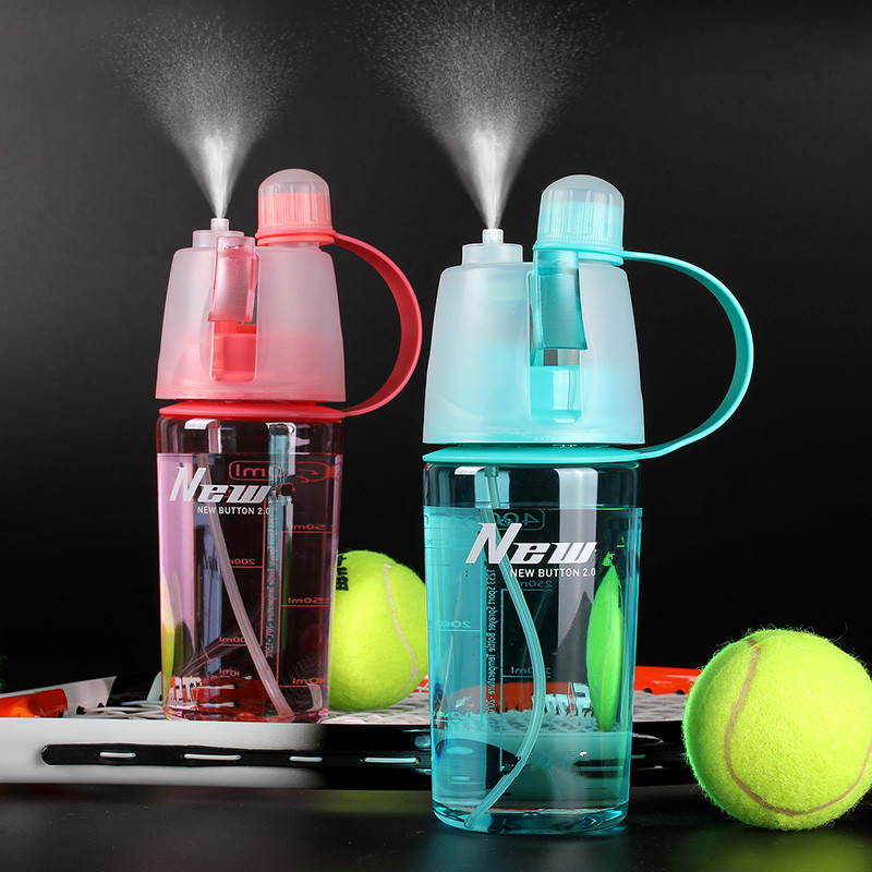 My Water bottle sport Spray bottle 400ml Cycling outdoor Moisturizing shaker Transparent Travel Plastic Water Camping Drinkware(China (Mainland))