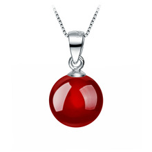 Noble Classic Nature Crystal Bead Agate Pendant Necklace. Charm Platinum plating Chain necklace for women wedding fine jewelry(China (Mainland))