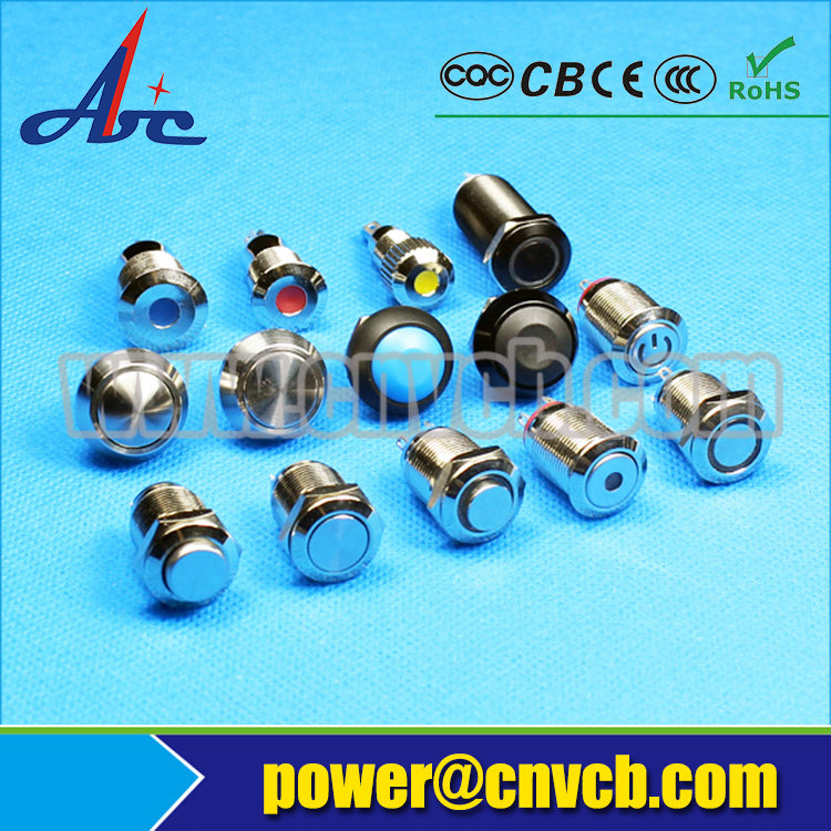 1635F 16mm Flat round momentary ring lamp waterproof IP67 switch