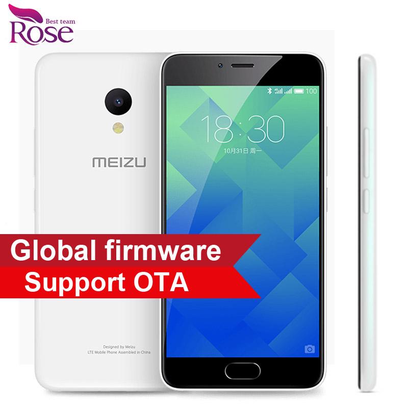 """Original Meizu M5 MTK MT6750 Octa Core Mobile Phone 3GB RAM 32GB ROM 5.2"""" 4G LTE 2.5D Glass 1280*720 13MP Fingerprint ID 3070mA"""