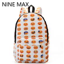 New 2016 Emoji Face Printing School Bag Smiley Backpack Smiling Book for teenagers girls High quality Shoulder Mochila Feminina(China (Mainland))