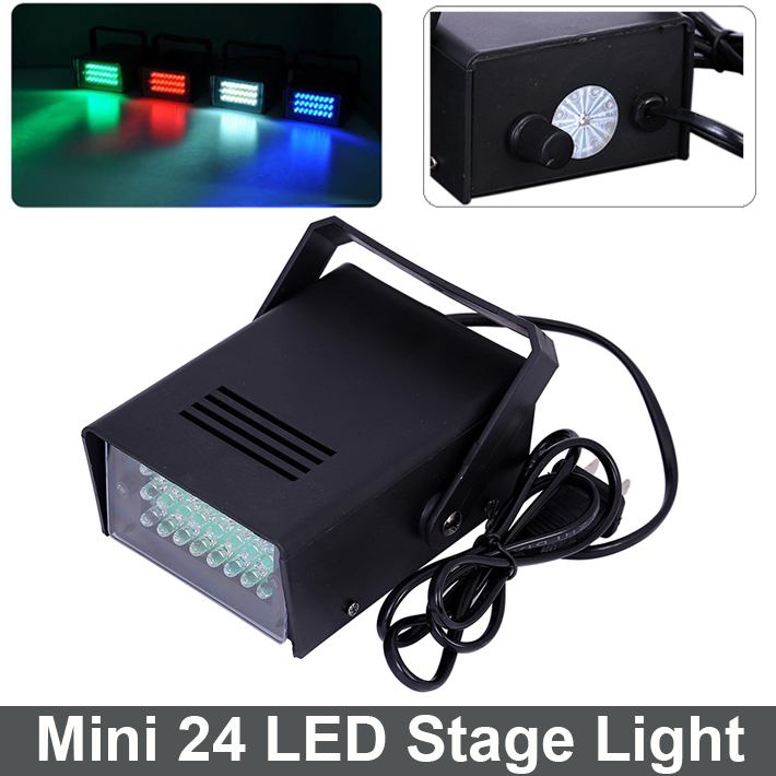 Mini 24 LED DJ Strobe Light Flash Light Club Stage Lighting Party Disco Bulb 220V 3W White Color Free Shipping