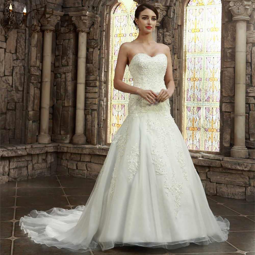 High quality wedding dresses sweetheart mermaid vestidos for Wedding dresses in china