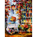 hand painted Modern Artwork of Landscape Palette knife thick Art In The Garden canvens Oil Painting