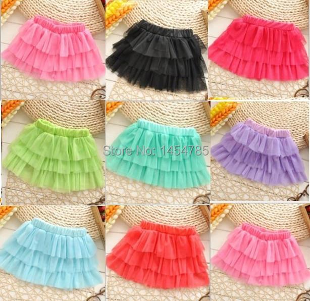 Free Shipping new arrival girls tutu skirts kids baby fashion skirt childrens pettiskirt kids silk ballet skirt for girl(China (Mainland))