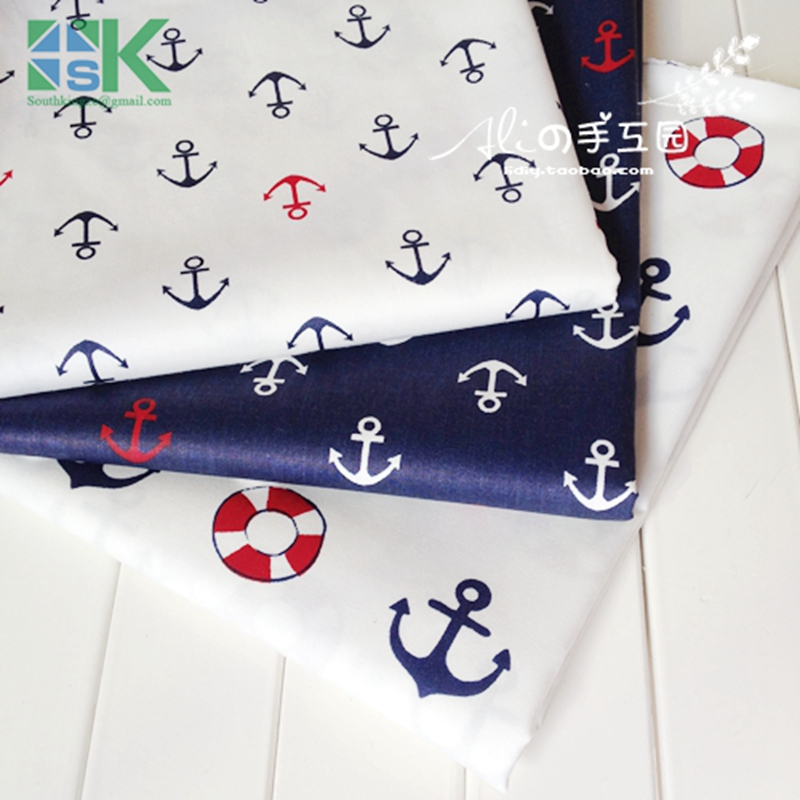 2016 Creative DIY Cotton Fabric, Fabric, 100% cotton denim curtain baby clothes table cloth home fabric navy blue(China (Mainland))