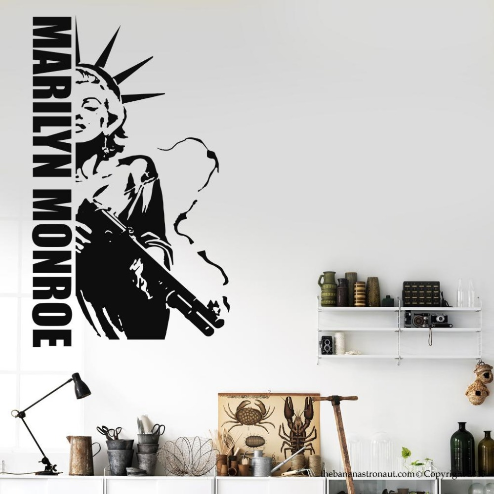 marilyn monroe tatuajes de pared compra lotes baratos de marilyn monroe tatuajes de pared de. Black Bedroom Furniture Sets. Home Design Ideas
