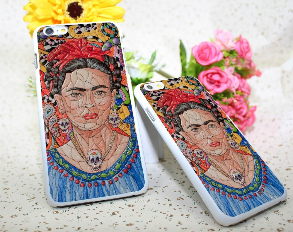 Frida Kahlo Stained White Hard Case Cover for iPhone 6 6s plus 5 5s 4 s White Skin Print Series
