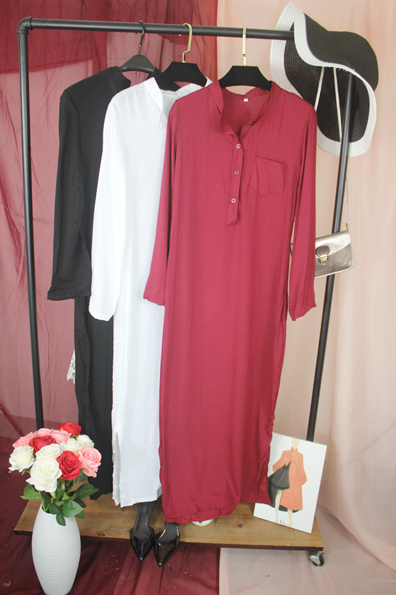Fashion Vestidos 2016 Summer Women Sexy Casual Dress Long Sleeve Deep V Neck Linen Split Solid Long Maxi Dress Plus Size 2XL