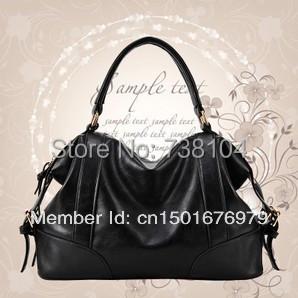 HOT Fashion brief 2013 womens cowhide handbag genuine leather bag messenger bag female handbag  Free Shipping<br><br>Aliexpress