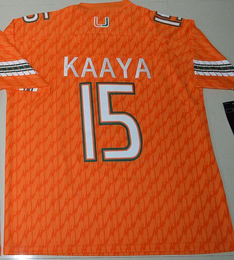Nike 2017 Miami Hurricanes Brad Kaaya 15 College Football Jerseys - Orange Size S,M,L,XL,2XL,3XL(China (Mainland))