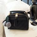 Korean Style PU Box type Handbag Women Fashion Simple Bag Ladylike Thread Small Bag Ladies Trendy