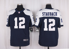 Men's free shiping A+++ quality Dallas Cowboys #12 Roger Staubach Limited Navy Blue Throwback Alternate(China (Mainland))