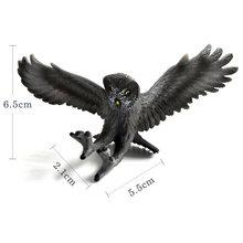 Brinquedos quentes águia do mar papagaio peru pássaro figura de ação plástico modelo animal fada decoração do jardim estatueta uma peça presente para o miúdo(China)