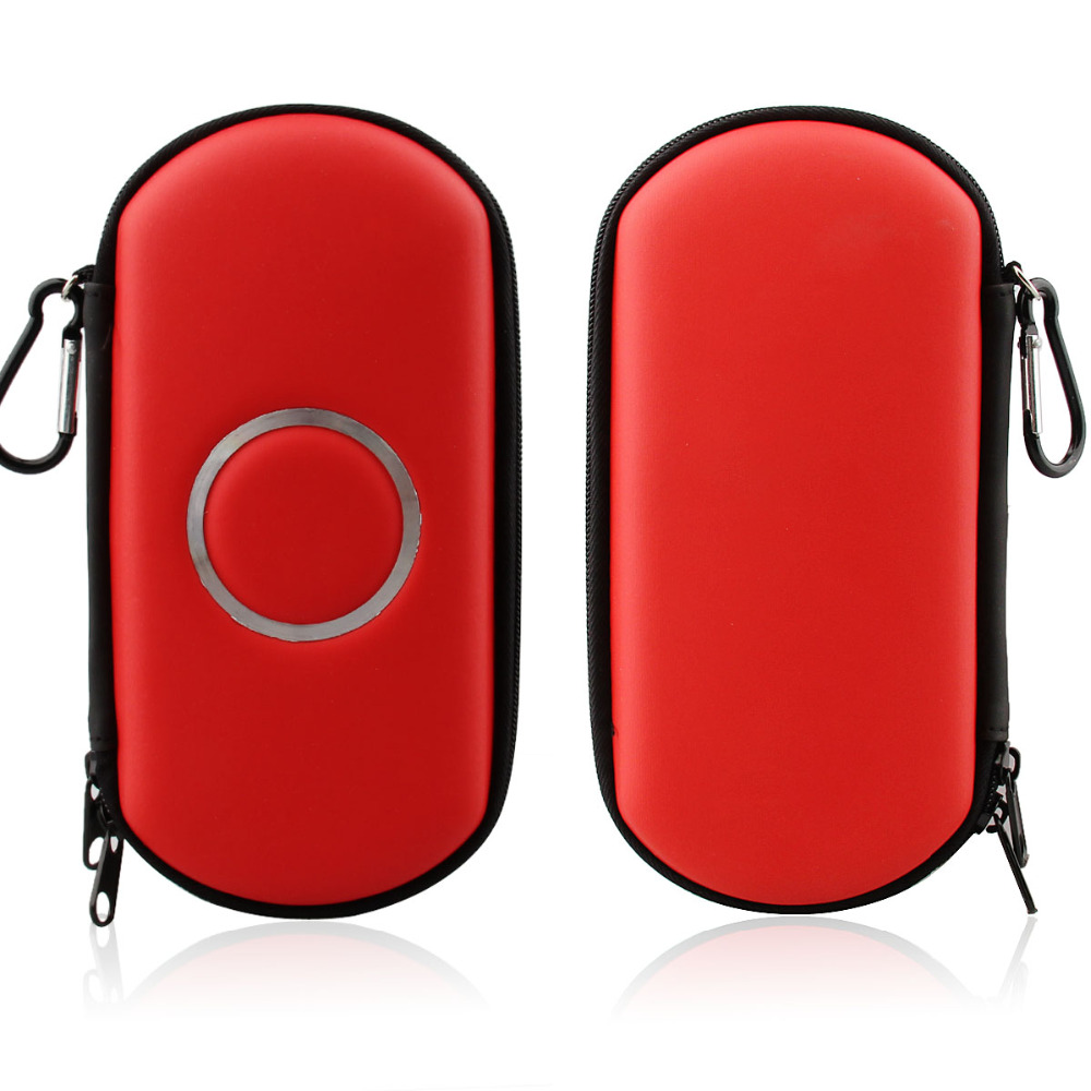 With Carabiner Hard Carry Zipper Case Bag Game Pouch For Sony PSP 1000 2000 3000 With