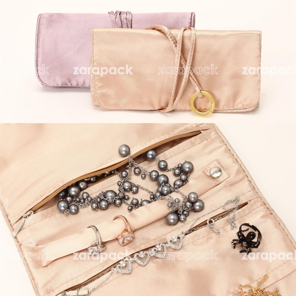 Wholesale 10pcs lot Elegant Large Jewelry Roll Holder Organizer Travel Jewellery rolls Organizer Bag caja de joyas<br><br>Aliexpress