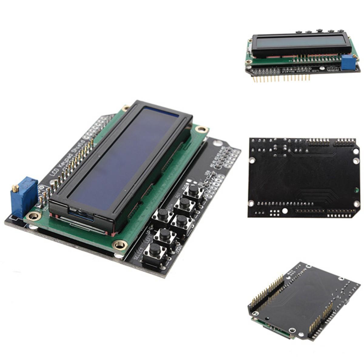 Hot Sale High Quality Keypad Shield Board Blue Backlight for Arduino Robot LCD 1602 1280 2560 UNO USA Liquid Crystal Displays(China (Mainland))