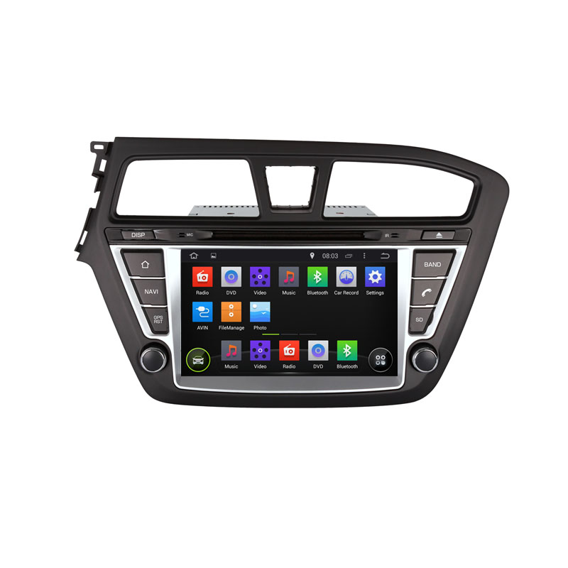 ROM 16G Android 5.1.1 1024*600 Quad Core Fit Hyundai i20 left or right driving 2014 2015 Car DVD Player Navigation 3G Radio GPS(China (Mainland))