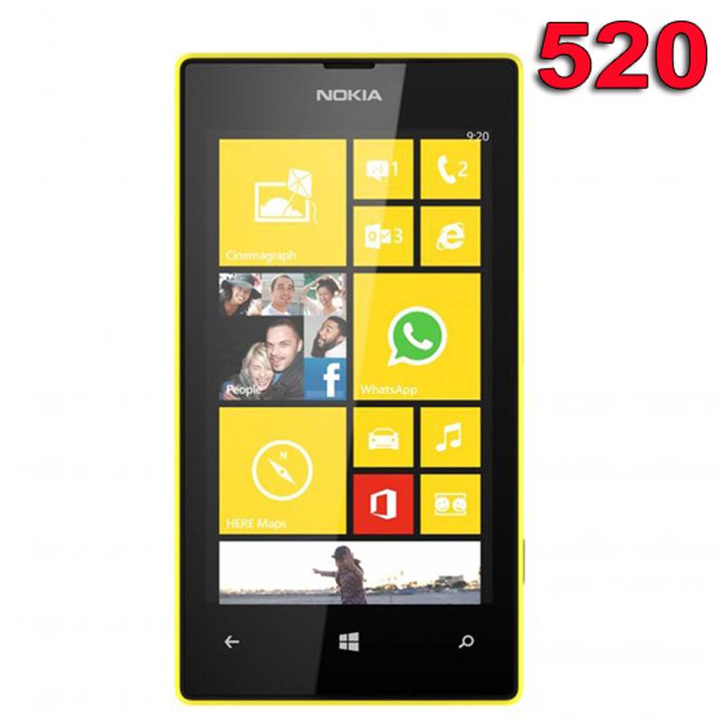 Восстановленное в исходном Nokia Lumia 520 мобильных телефонов 3 г двухъядерный GPS Wifi 5MP 4.0